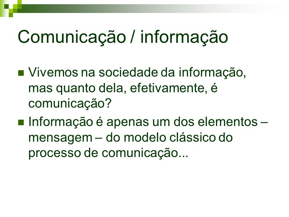 Comunicação / informação