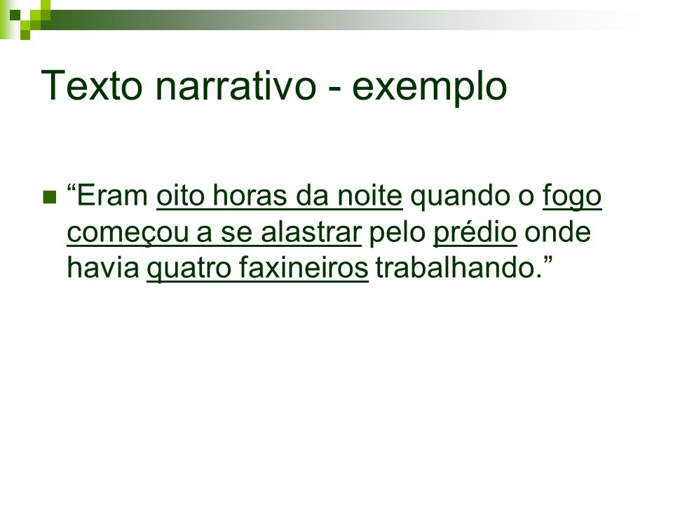 Texto narrativo - exemplo