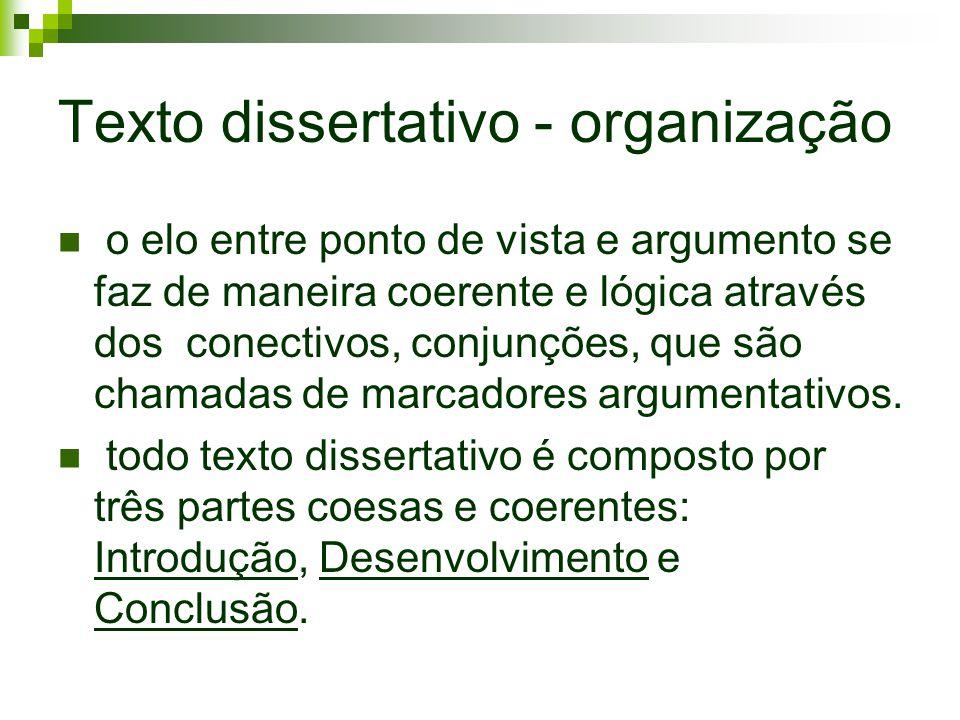 Texto dissertativo - organização