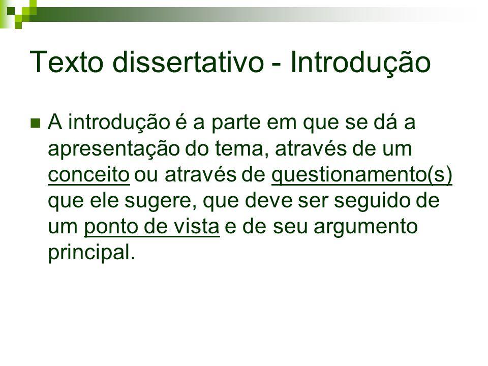 Texto dissertativo - Introdução