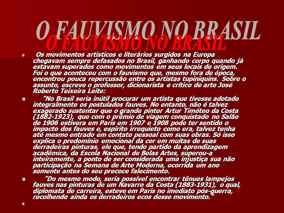 O FAUVISMO NO BRASIL