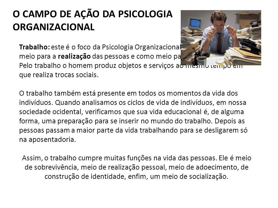 O CAMPO DE AÇÃO DA PSICOLOGIA ORGANIZACIONAL