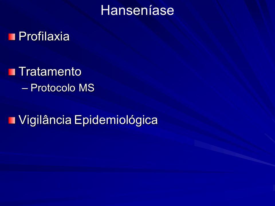 Hanseníase Profilaxia Tratamento Vigilância Epidemiológica