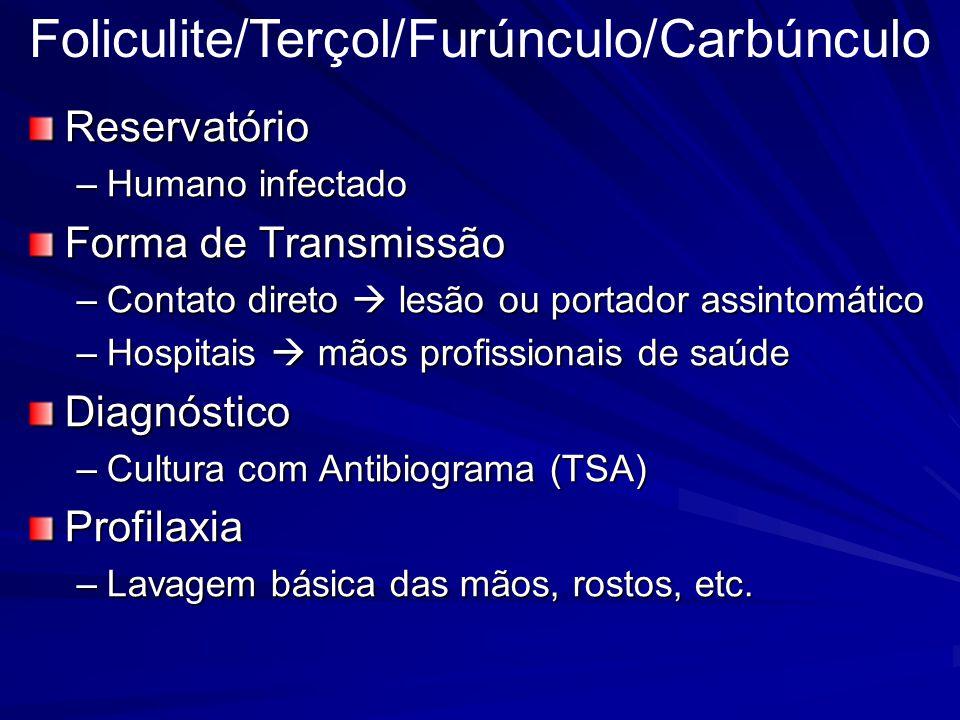 Foliculite/Terçol/Furúnculo/Carbúnculo