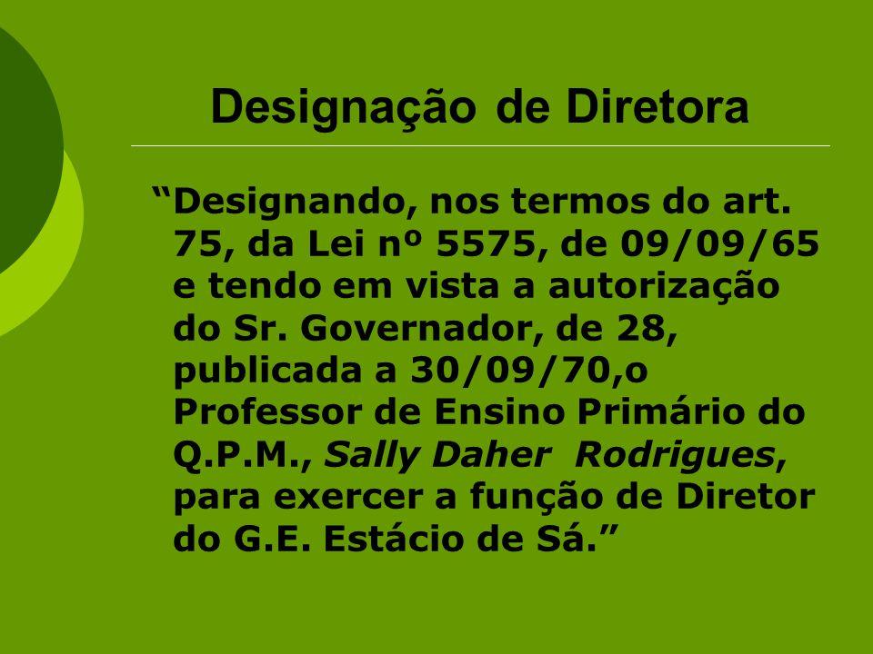 Designação de Diretora
