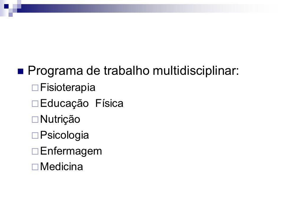 Programa de trabalho multidisciplinar: