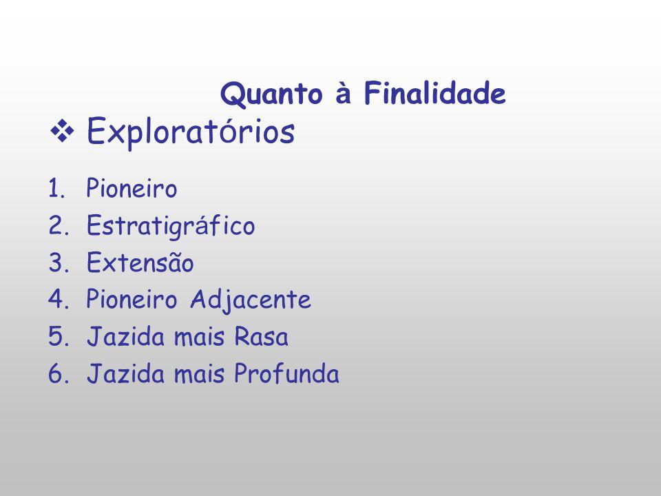 Exploratórios Quanto à Finalidade Pioneiro Estratigráfico Extensão