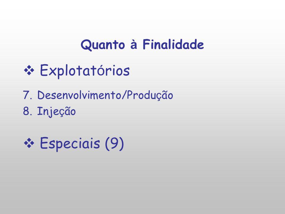 Explotatórios Especiais (9) Quanto à Finalidade