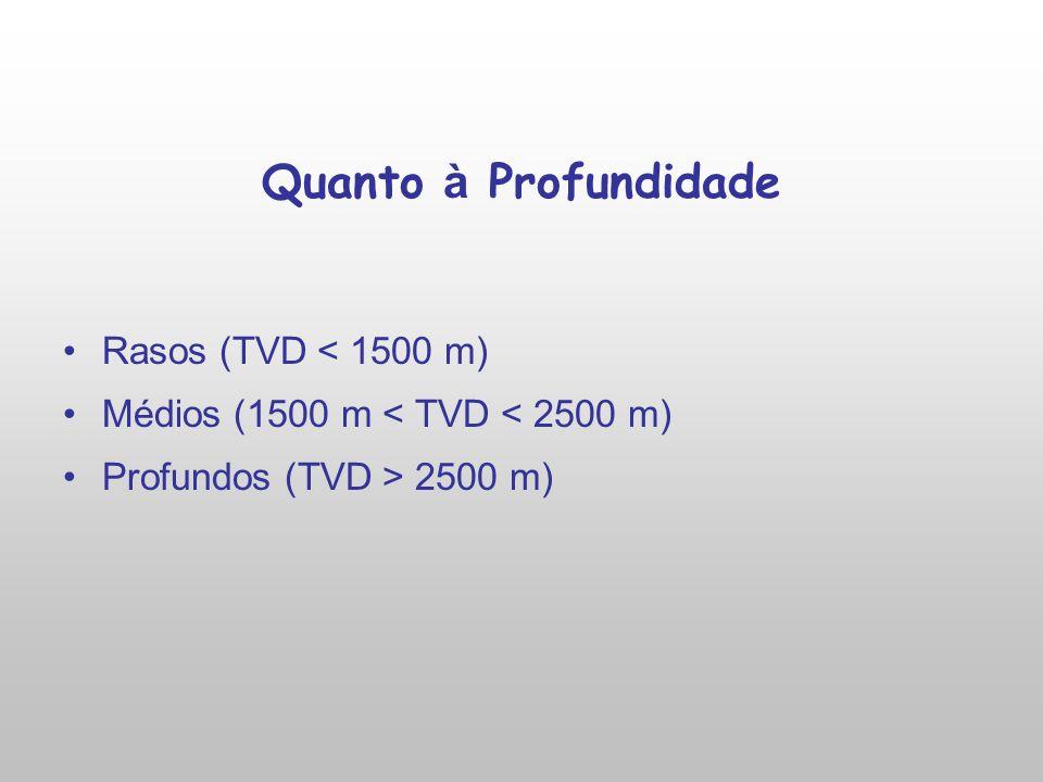 Quanto à Profundidade Rasos (TVD < 1500 m)