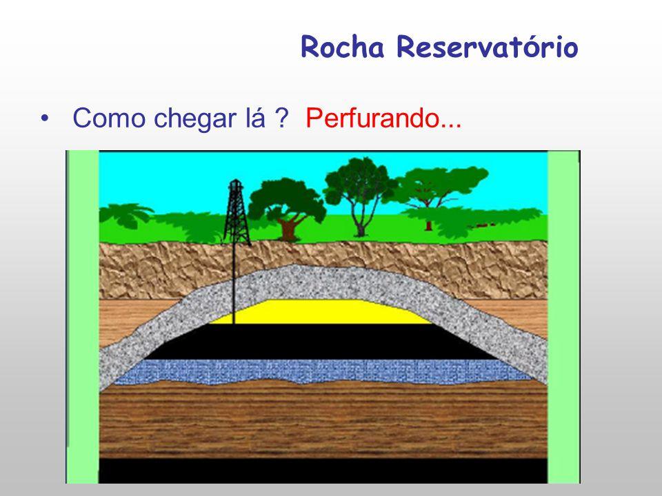 Rocha Reservatório Como chegar lá Perfurando...