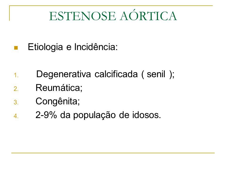ESTENOSE AÓRTICA Etiologia e Incidência: