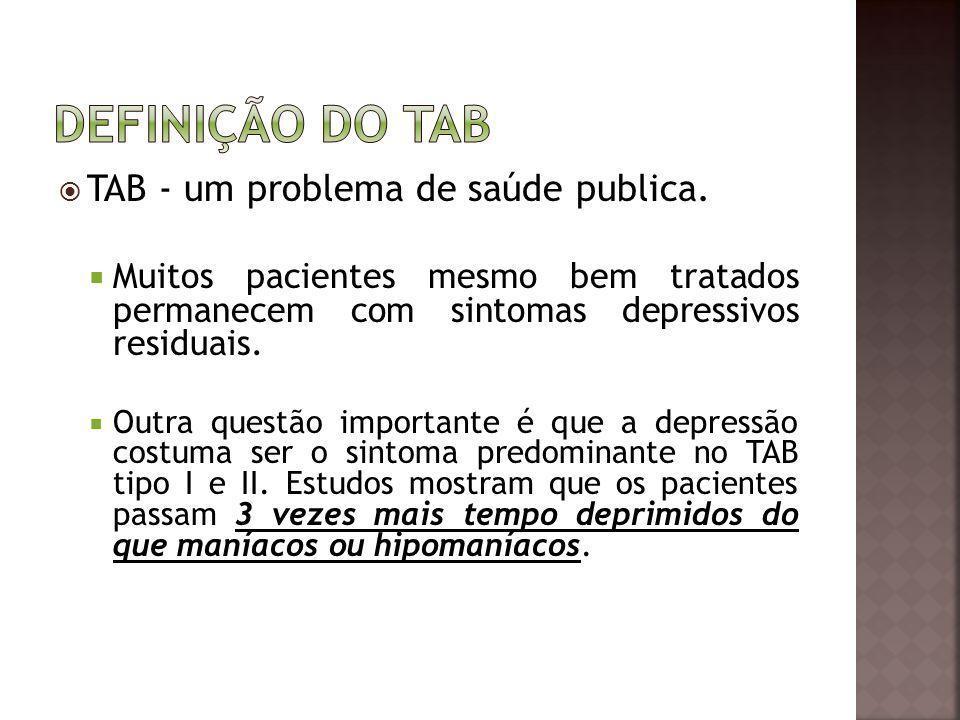 Definição do TAB TAB - um problema de saúde publica.