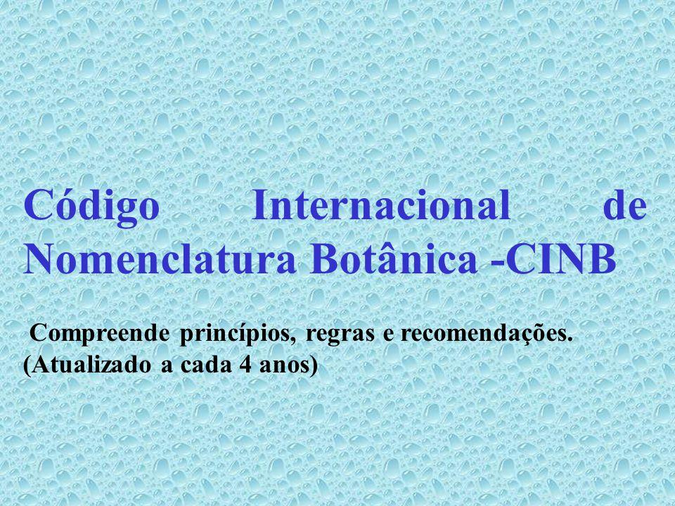 Código Internacional de Nomenclatura Botânica -CINB