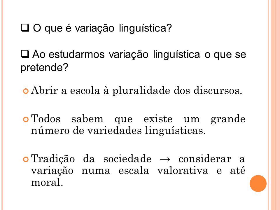 O que é variação linguística