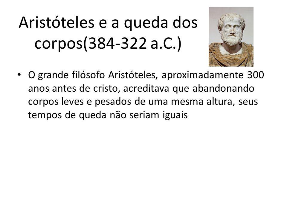 Aristóteles e a queda dos corpos(384-322 a.C.)
