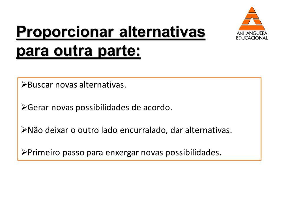 Proporcionar alternativas para outra parte: