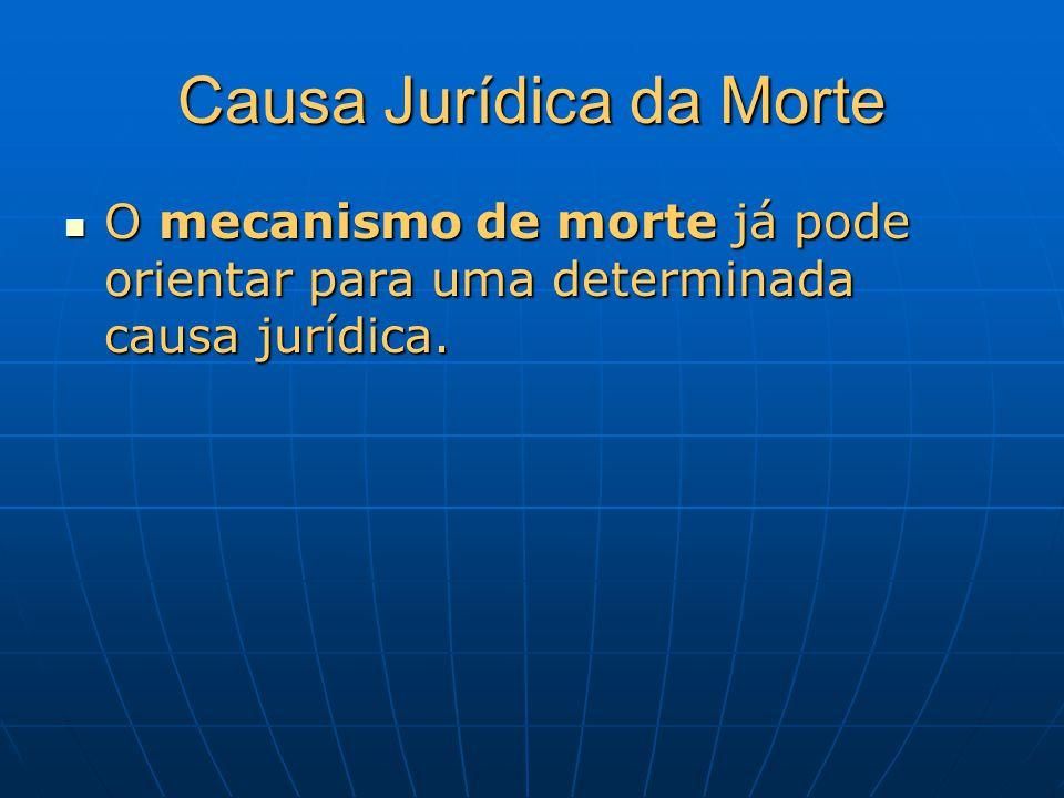 Causa Jurídica da Morte