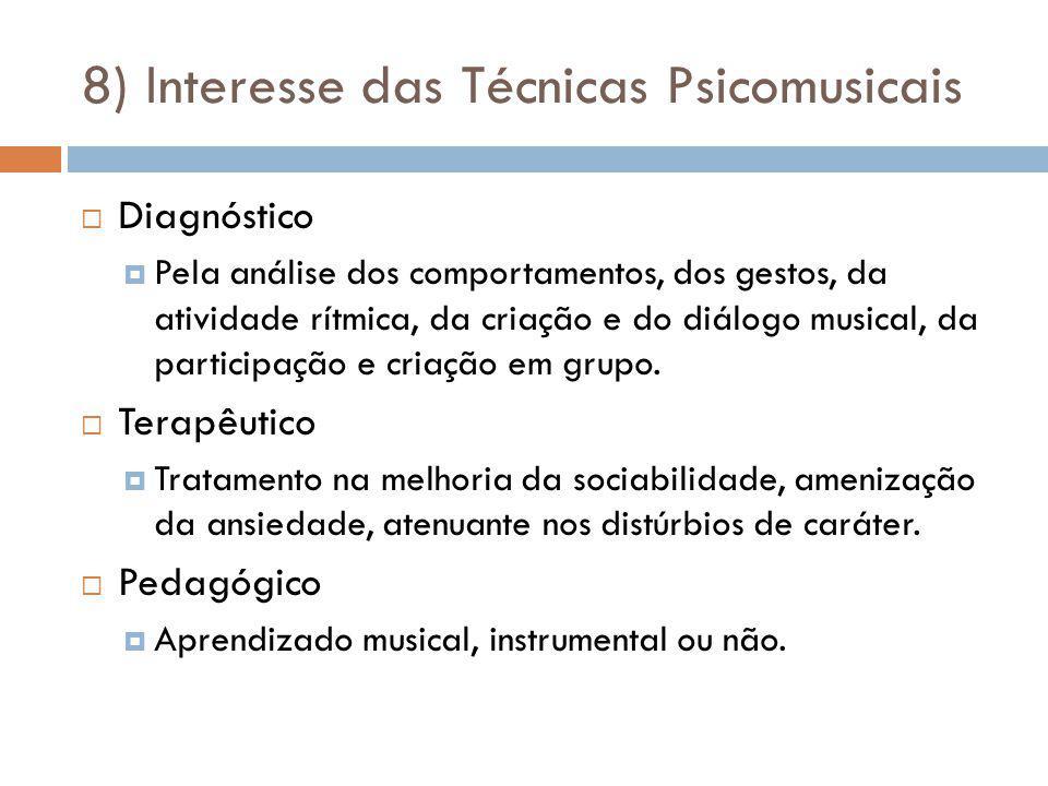 8) Interesse das Técnicas Psicomusicais