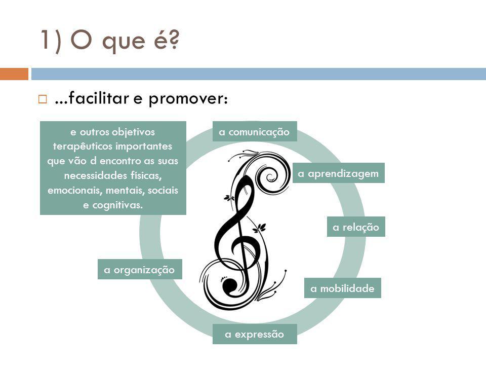 1) O que é ...facilitar e promover: a comunicação a relação