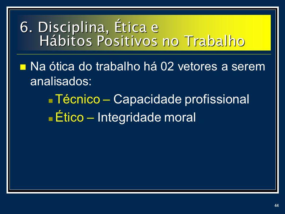 6. Disciplina, Ética e Hábitos Positivos no Trabalho