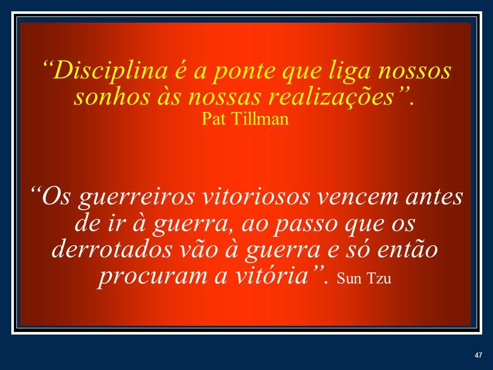 Disciplina é a ponte que liga nossos sonhos às nossas realizações