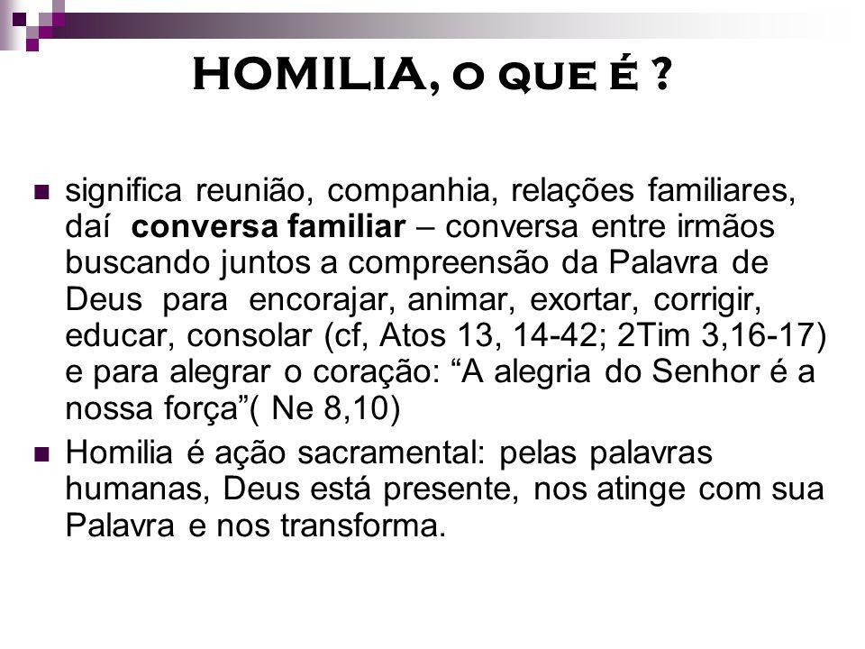 HOMILIA, o que é