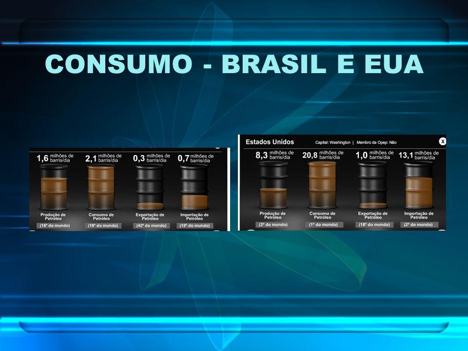 CONSUMO - BRASIL E EUA