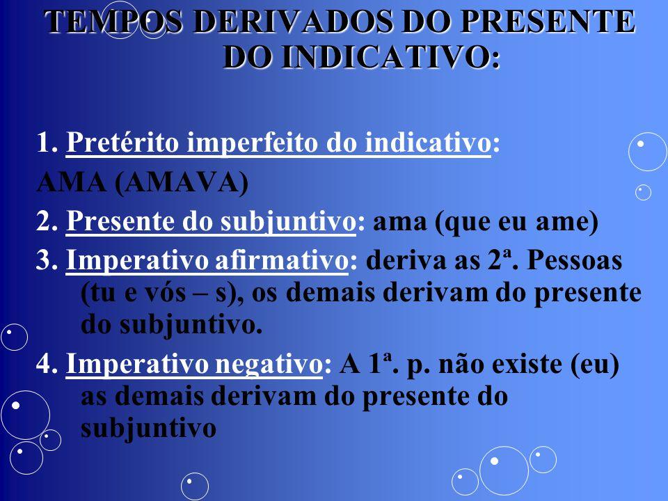 TEMPOS DERIVADOS DO PRESENTE DO INDICATIVO: