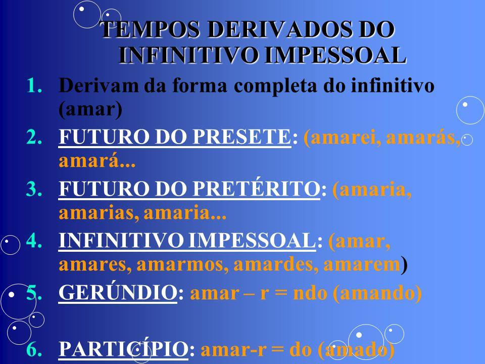 TEMPOS DERIVADOS DO INFINITIVO IMPESSOAL