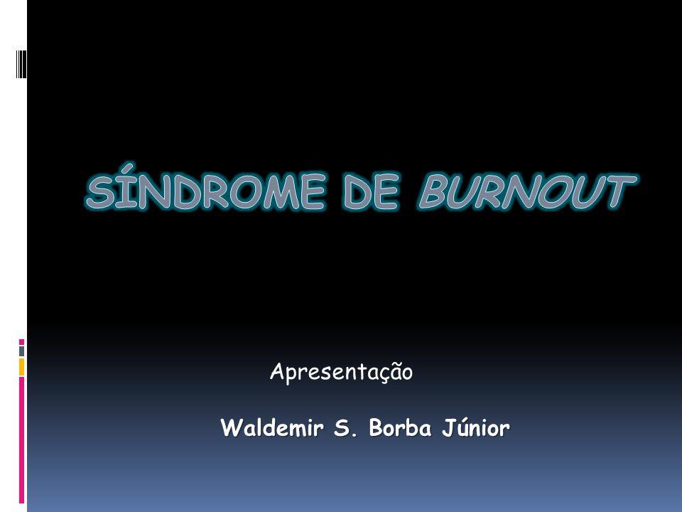 Apresentação SÍNDROME DE BURNOUT Waldemir S. Borba Júnior