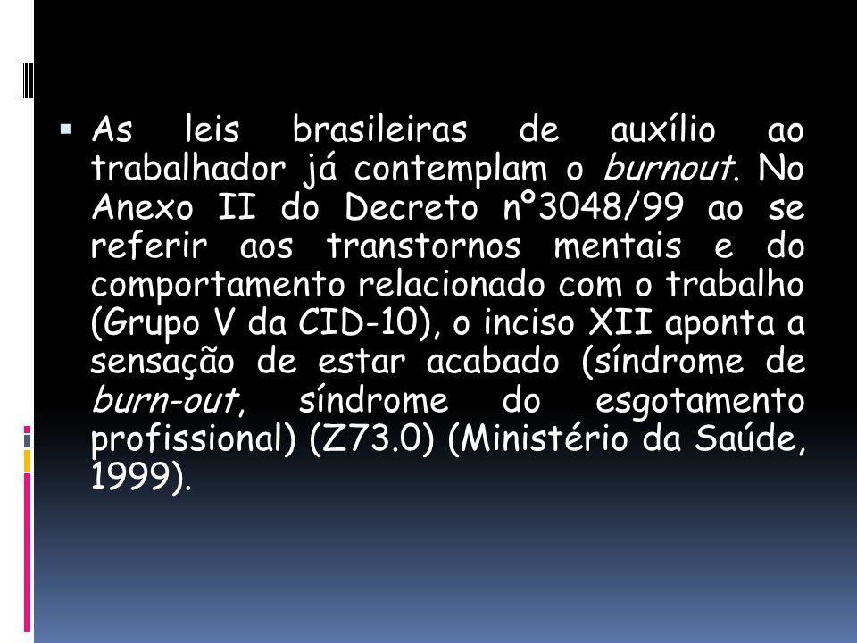 As leis brasileiras de auxílio ao trabalhador já contemplam o burnout