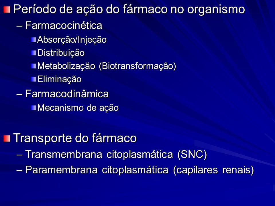 Período de ação do fármaco no organismo