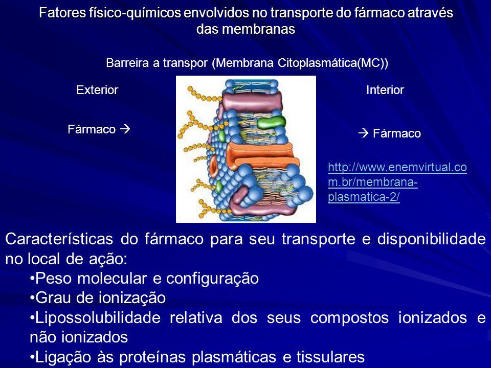 Barreira a transpor (Membrana Citoplasmática(MC))