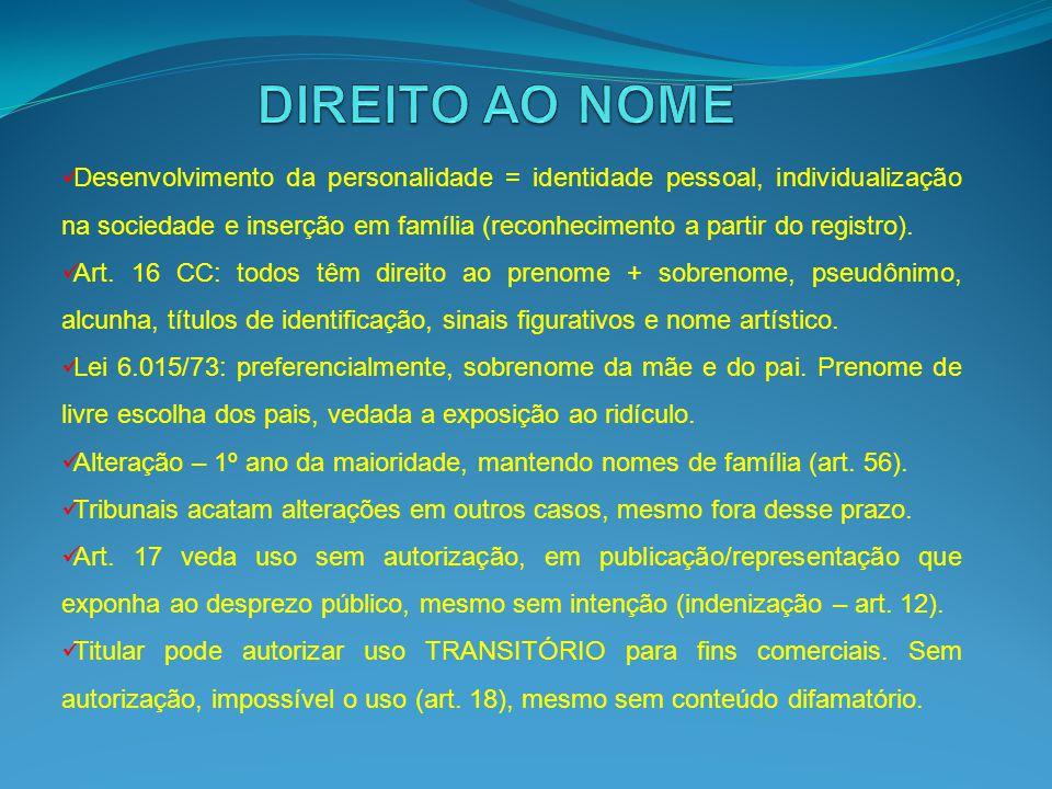 DIREITO AO NOME