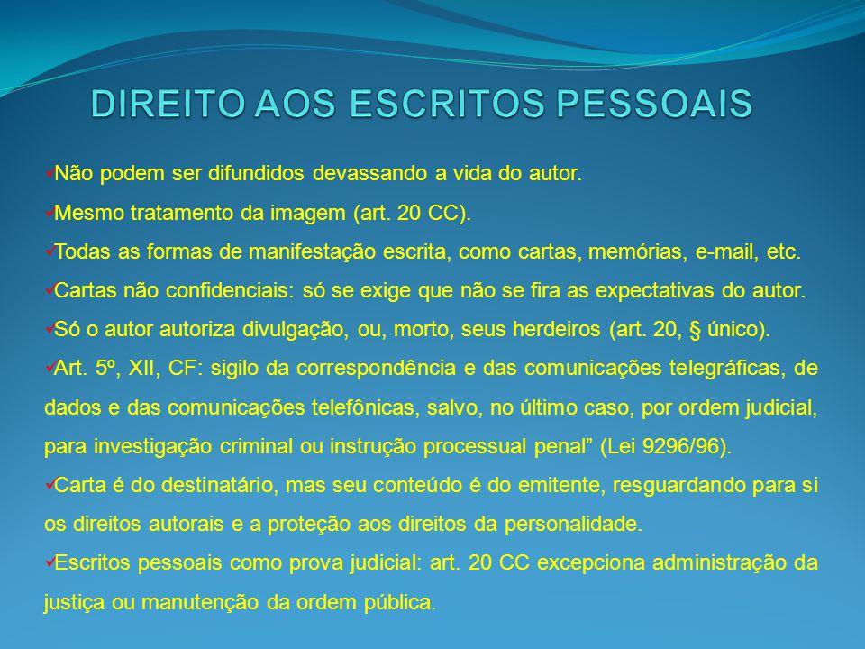DIREITO AOS ESCRITOS PESSOAIS