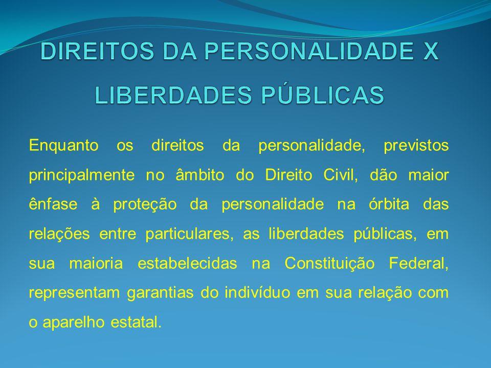 DIREITOS DA PERSONALIDADE X LIBERDADES PÚBLICAS