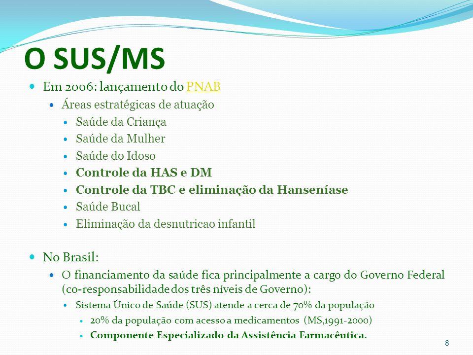 O SUS/MS Em 2006: lançamento do PNAB No Brasil: