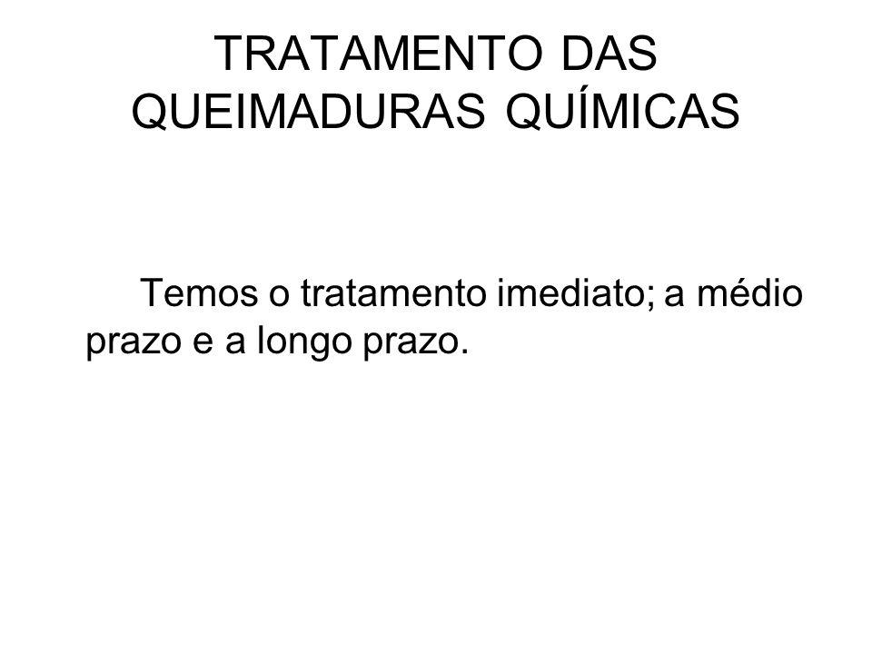 TRATAMENTO DAS QUEIMADURAS QUÍMICAS