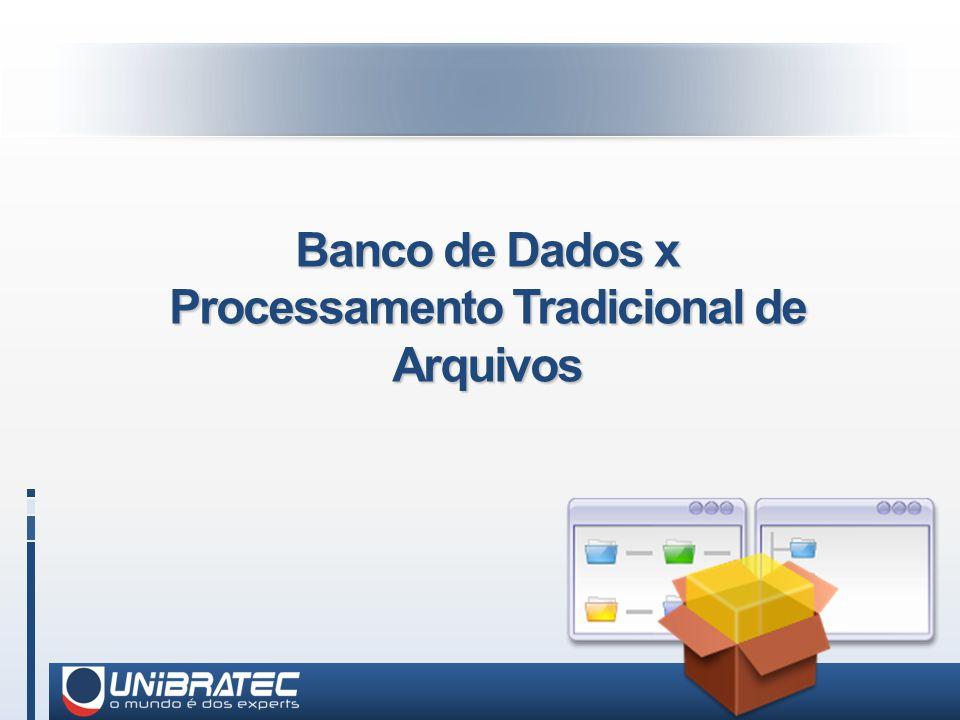 Banco de Dados x Processamento Tradicional de Arquivos