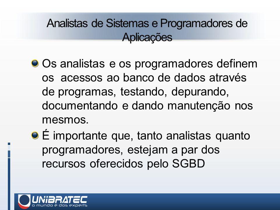 Analistas de Sistemas e Programadores de Aplicações