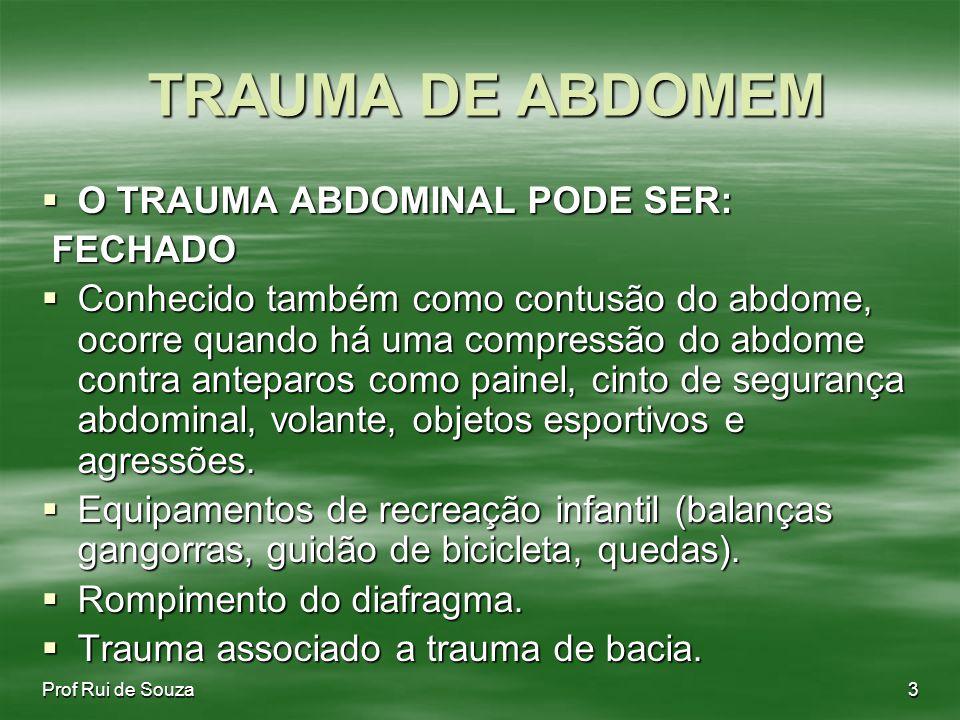 TRAUMA DE ABDOMEM O TRAUMA ABDOMINAL PODE SER: FECHADO