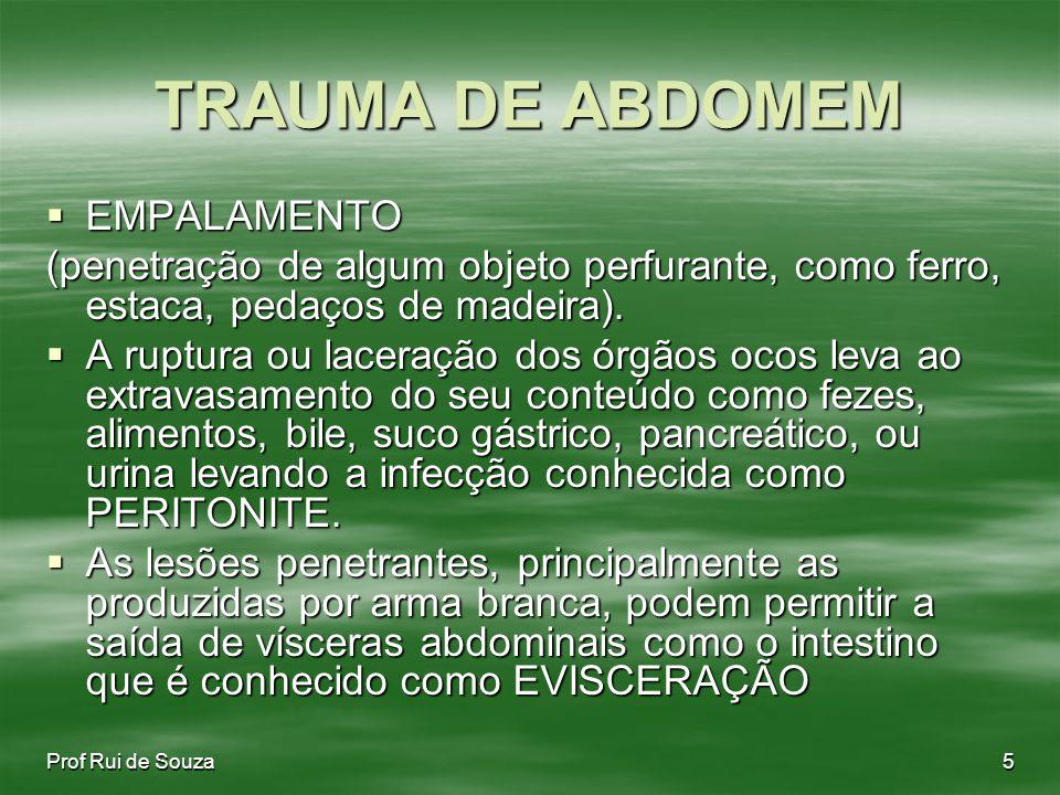 TRAUMA DE ABDOMEM EMPALAMENTO