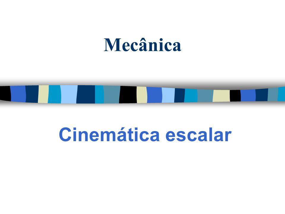 Mecânica Cinemática escalar