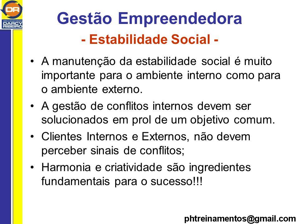 Gestão Empreendedora - Estabilidade Social -