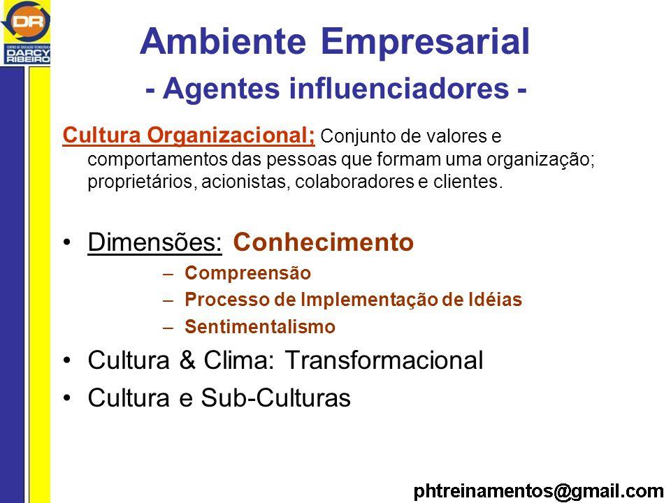 Ambiente Empresarial - Agentes influenciadores -