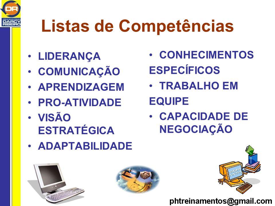 Listas de Competências