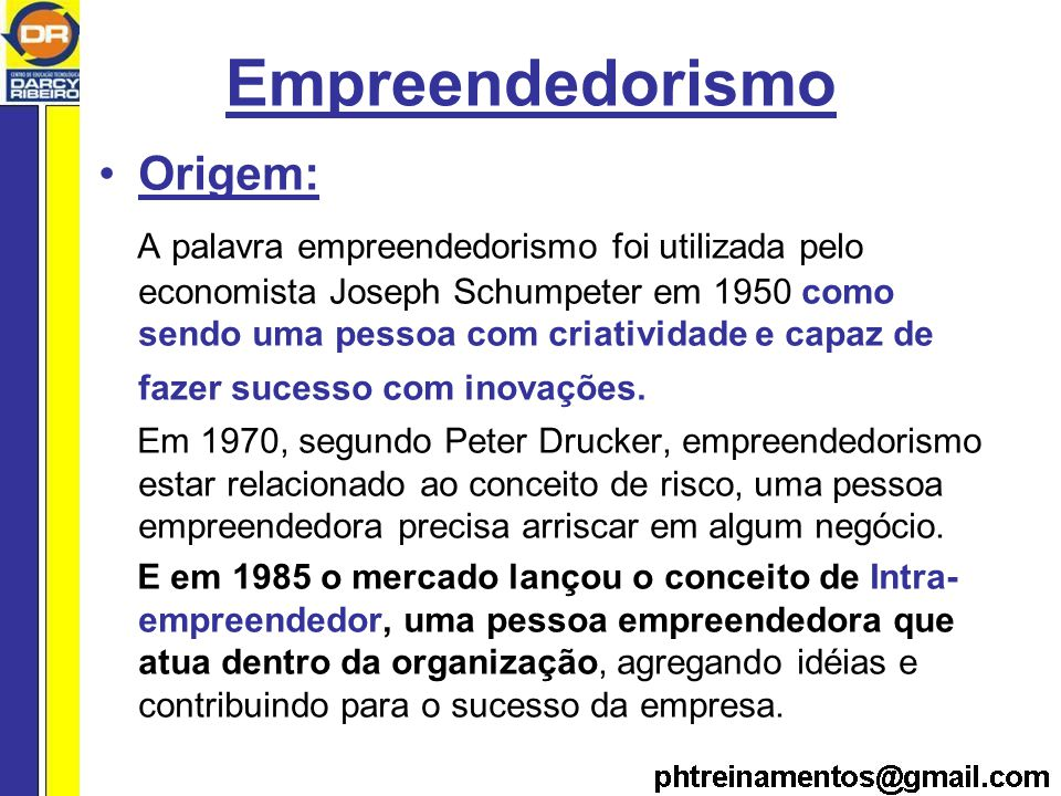 Empreendedorismo Origem: