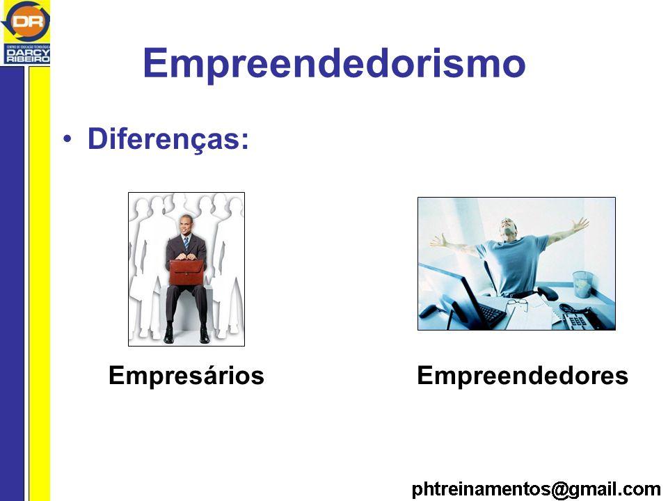 Empreendedorismo Diferenças: Empresários Empreendedores