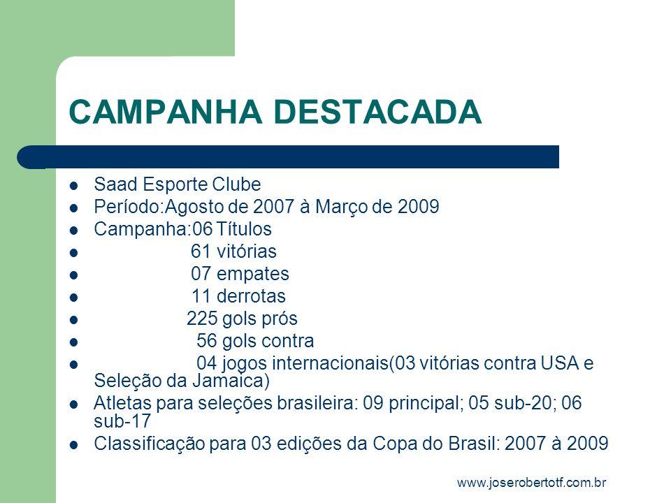 CAMPANHA DESTACADA Saad Esporte Clube