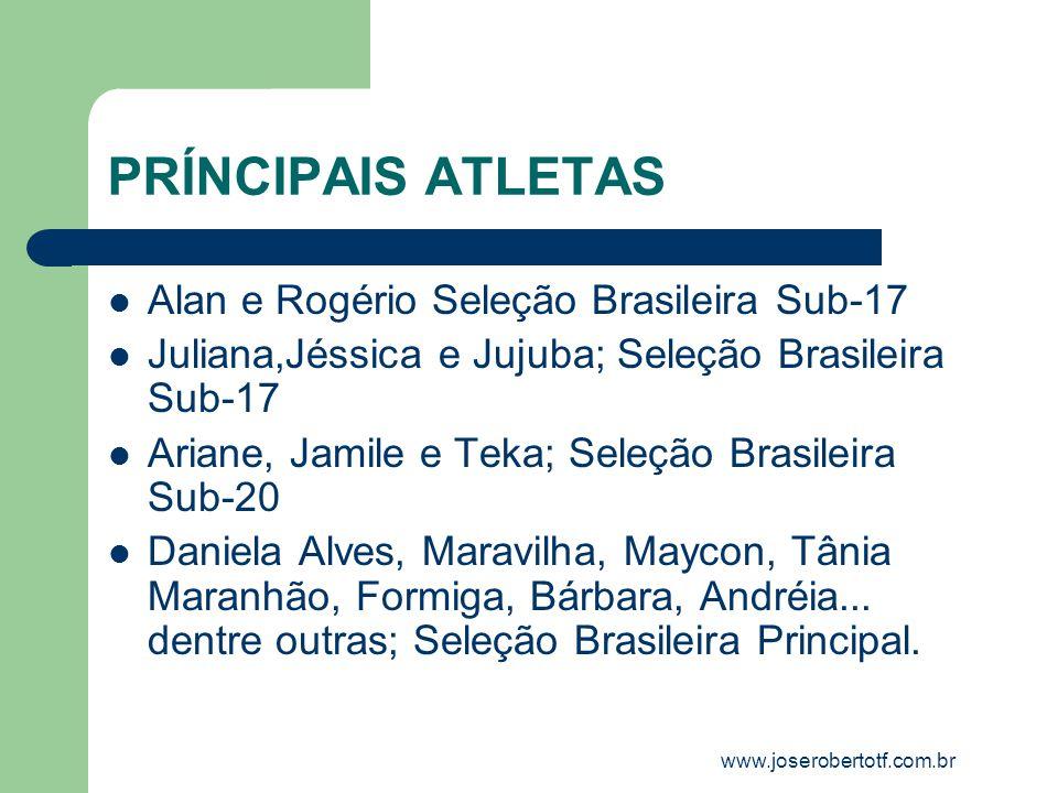 PRÍNCIPAIS ATLETAS Alan e Rogério Seleção Brasileira Sub-17